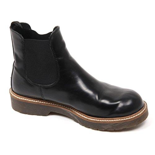 Con Woman C3560 Beatles Cuoieria Antica Effetto Shoe Donna Pieghe Boot Nero Vintage A5vgqw6v
