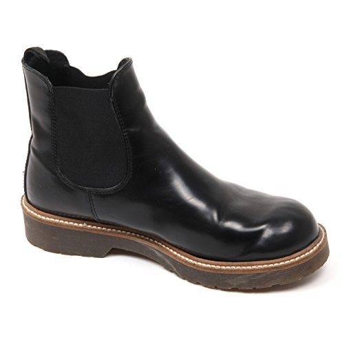 woman woman woman Beatles shoe C3560 C3560 C3560 C3560 donna boot vintage CUOIERIA effetto ANTICA pieghe con Nero Ffqfdwv