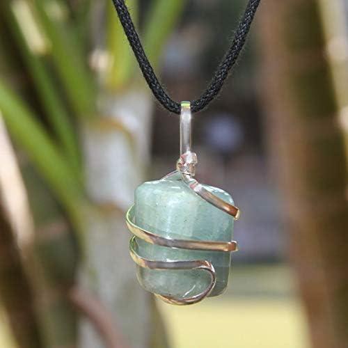 Aquamarine and AAA Solar Quartz Pendant Necklace