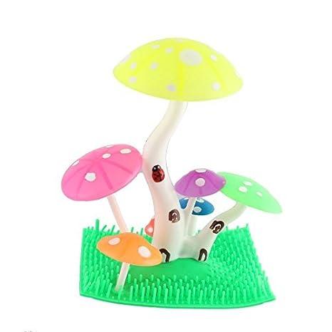 Planta DealMux peces de acuario tanque artificial emulación de hongos del césped ornamento colorido: Amazon.es: Productos para mascotas