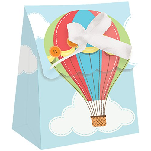 Creative Converting Up, Up & Away Die Cut Favor Bags with Ribbon (12 (Hot Air Balloon Baby Shower Favors)