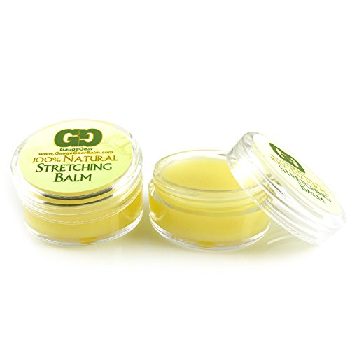 Gauge Gear Twin Pack- Ear Stretching Balm Cream with Jojoba Oil Natural Healing Product (Gear Gauges)