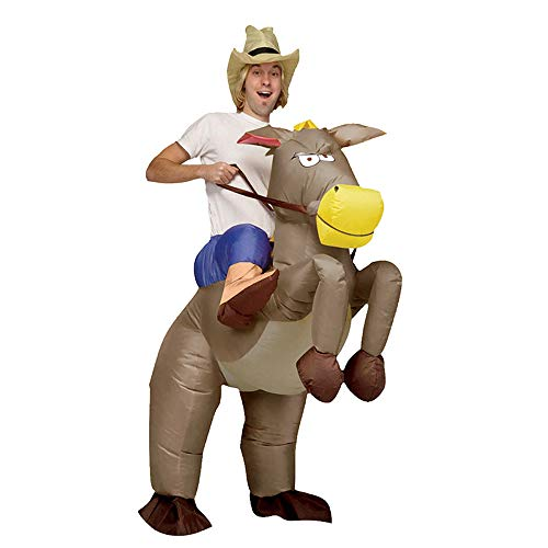 (Inflatable Cosplay Party Costume Horse Rider Air Blow-up Deluxe Costume-)