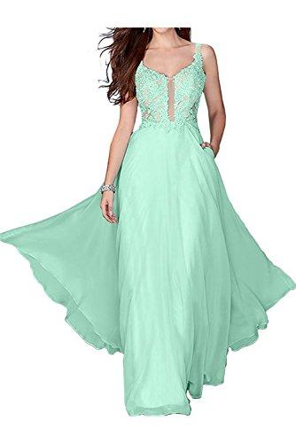 La_Marie Braut Rosa Festliche Damen Kleider Brautmutterkleider Lang Abendkleid Mit Spitze Kleider A-linie Hell Gruen DUgL5k