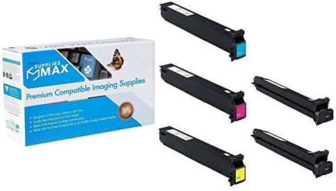 DEVA0TM0D2B1CMY 2-BK//1-C//M//Y 552//652 Toner Cartridge Combo Pack SuppliesMAX Compatible Replacement for Develop ineo