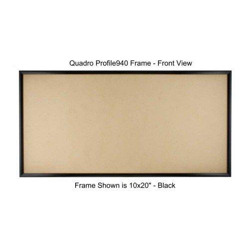 Quadroフレーム画像フレーム11 x 28インチ ブラック 2 ブラック B077GM4XSD