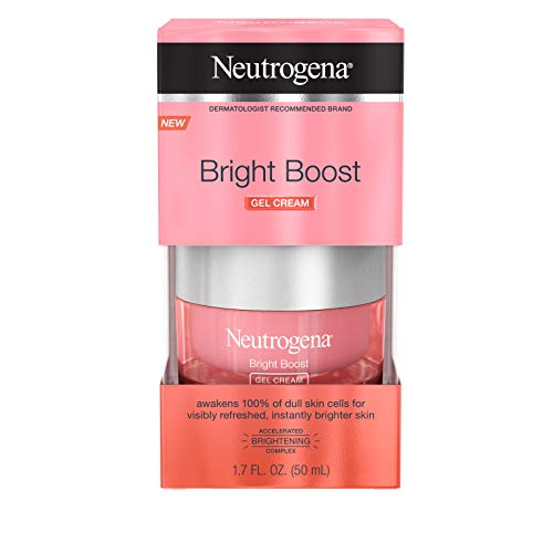 Neutrogena Bright Boost Brightening Gel Moisturizing Face Cream with Skin Resurfacing and Brightening Neoglucosamine for smooth skin, Facial Cream with AHA, PHA, and Mandelic Acids, 1.7 fl. oz