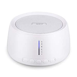 White Noise Machine, MOICO Sound Machines for Sleeping with 30 Non-Looping Soothing Sounds, 20 Levels of Volume, Timer & Memory Function, Sleep Machines for Baby Adults Travel Office Privacy (White)