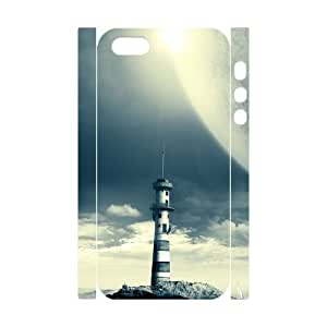 QSWHXN Cell phone Protection Cover 3D Case Lighthouse For Iphone 5,5S