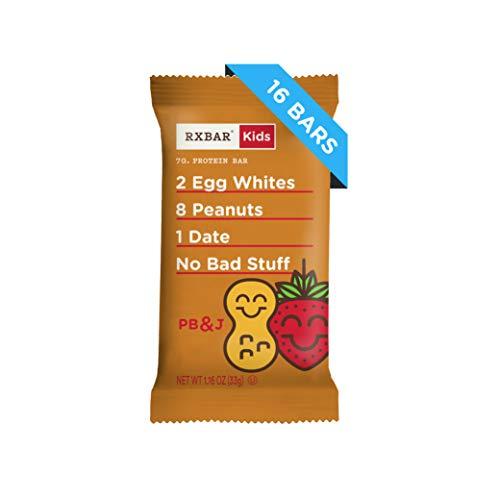 Peanut Butter And Jelly Kids (RXBAR Kids, Peanut Butter and Jelly, Protein Bar, 1.16 Ounce (Pack of 16) Kids Protein Snack, Breakfast Bar, Lunchbox)