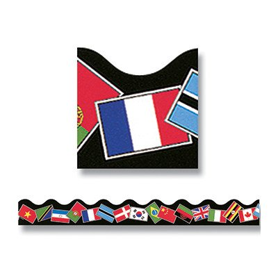 Trimmer World Flags Classroom Border [Set of 3]