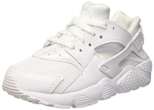 Nike Huarache Little Kids Running Shoes White/Pure Platinum 704949-110 (11.5 M US) by Nike (Image #1)