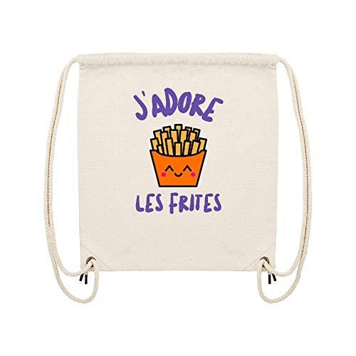Lookmykase Frites Lmk Coton gym Beige Sac Les J'adore rwHAr
