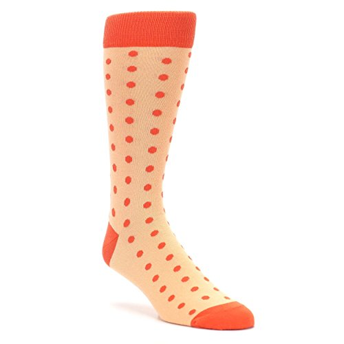 - Statement Sockwear Polka Dot Men's Socks (Peach, Papaya)