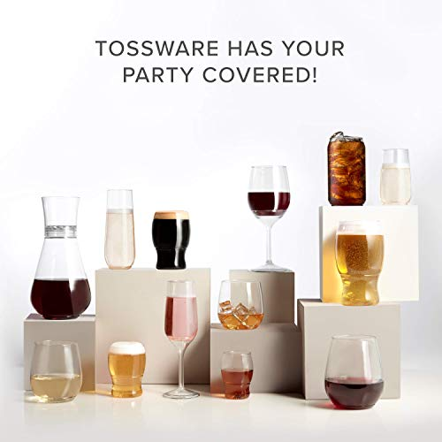 TOSSWARE 12oz Tumbler Jr - Set of 252 recyclable cocktail and whiskey plastic cup - stemless, shatterproof and BPA-free, Clear Glass by TOSSWARE (Image #8)