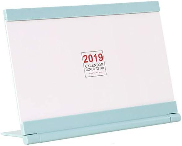FJXQCY Agosto de 2018 - diciembre de 2019, Calendario Mat de Mesa mensual de 18
