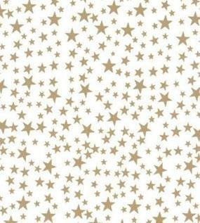 Gold Stars Tissue Paper - Gold Stars On White Background Tissue Paper - 20in.x30in. - 20 sheets