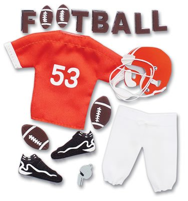 Jolee's Boutique Pep Rally Themed Ornate Stickers (Football) Orange