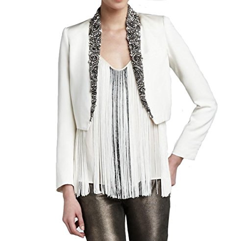 Embellished Silk Jacket - 5