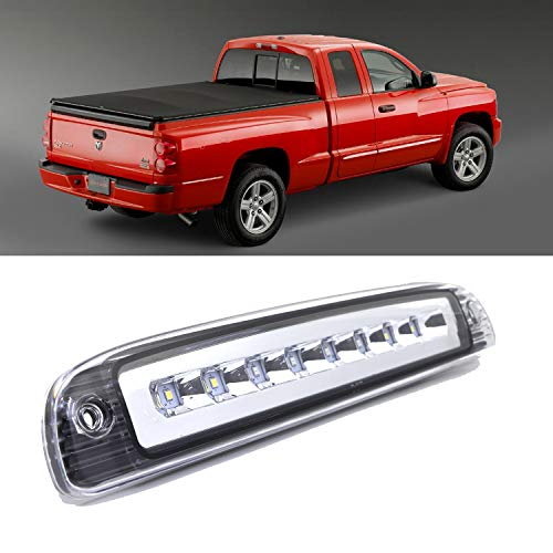 3rd Third Brake CHMSL Center High Mount Stop Light Lamp Brake Light Replacement for 1997-2007 Dodge Dakota(Clear)