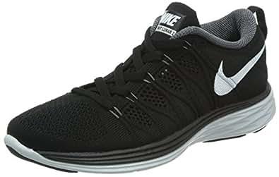 Nike Women's Wmns Flyknit Lunar2, BLACK/WHITE-DARK GREY-PURE PLATINM, 6 M US
