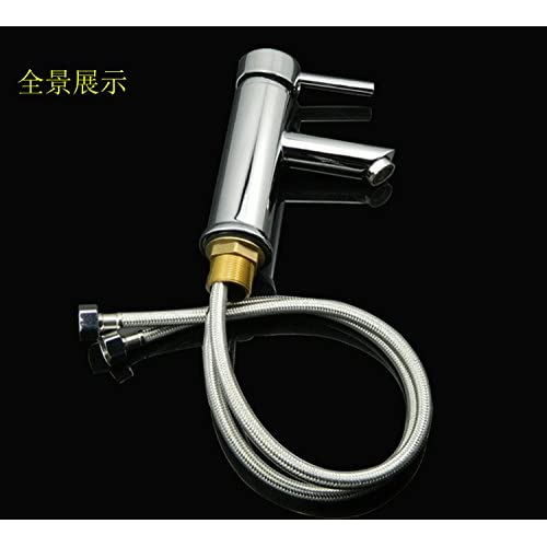 50%OFF SBWYLT-Brass lavatory faucet single handle single hole basin faucet hot and cold faucets wash basin faucet valve seat diameter: 4cm