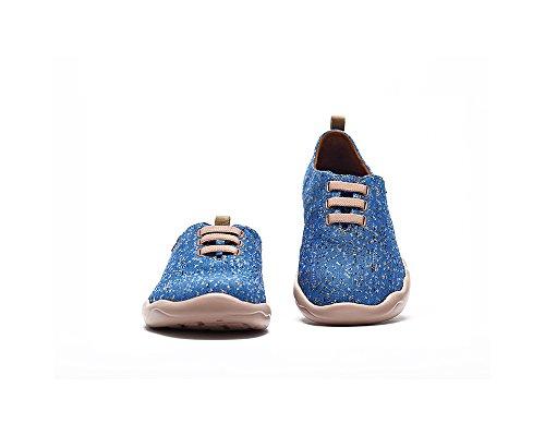 UIN Moguer Gestrickte Slip-on Schuhe Herren (40, Blau)