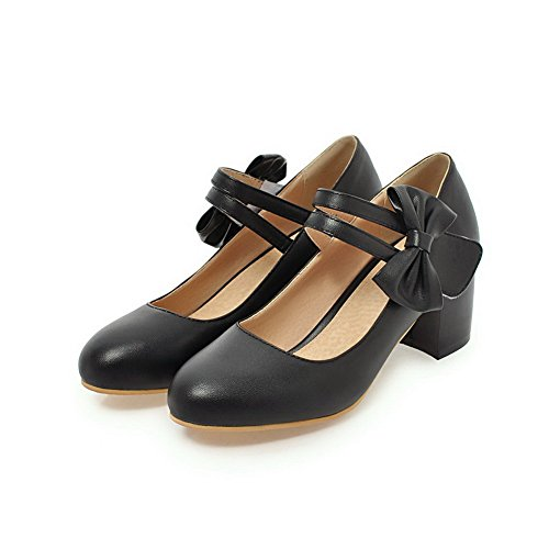 À Talon Unie Chaussures Rond Haut Aalardom Tire Beige Légeres Femme Couleur Microfibre XqHaRIw