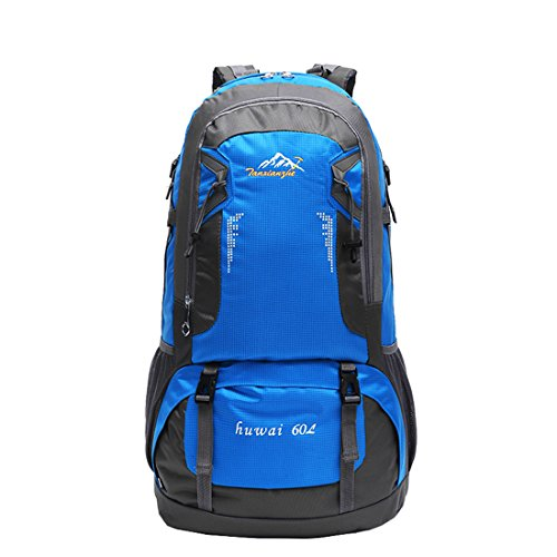 SMUNIFUR 60L Hiking Backpack Lightweight Travel Daypack Waterproof Outdoor Bag Packable Foldable Durable Shoulder Sport Ultralight Rucksack Pack For Camping Cycling