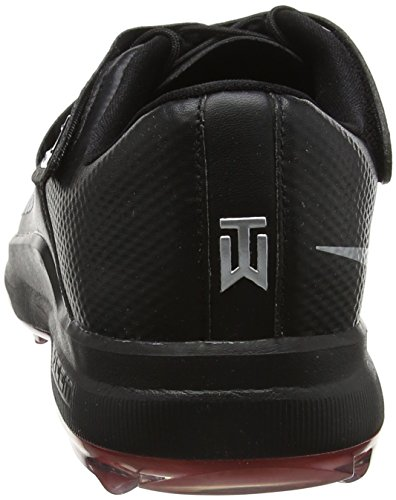 Pictures of NIKE Men's TW'17 Golf Shoes, Black/Metallic Silver-Anthracite, 9.5 M US 7