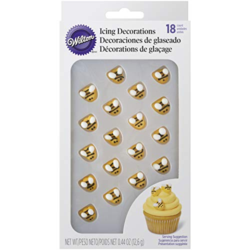 Wilton 710-2916 Bumblebee Icing Decorations, Yellow -
