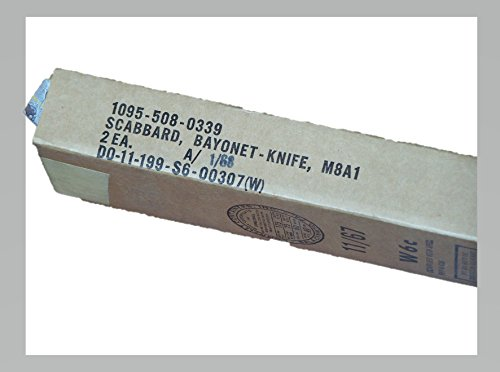 M8A1 Scabbard Sheath Pair Unopened Box Dated 1/68 Vietnam War Collectible for M3 M7 Knife ()