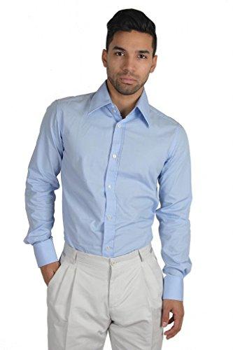 [Dolce & Gabbana Long Sleeve Dress Shirt US 15 IT 38 Blue] (Dolce & Gabbana Long Sleeve Dress Shirt)