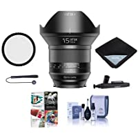 IRIX 15mm f/2.4 Blackstone Lens for Nikon DSLR Cameras - Manual Focus - Bundle With 95mm Uv Filter, Lens Wrap (19x19), Cleaning Kit, Capleash II, Lens Pen Lens Cleaner, Software Package