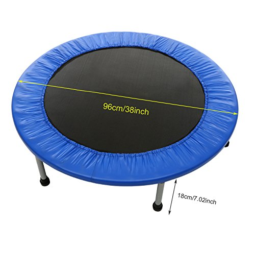 Binxin Heavy-duty Mini Folding Rebounder Trampoline Round Kids Exercise and Fitness Trampoline Max Load 220lbs (38'' & 40'')