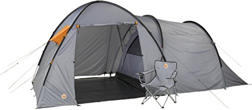 Grand Canyon Fraser 3 - Campingzelt (3-Personen-Zelt), grau/orange, 302019