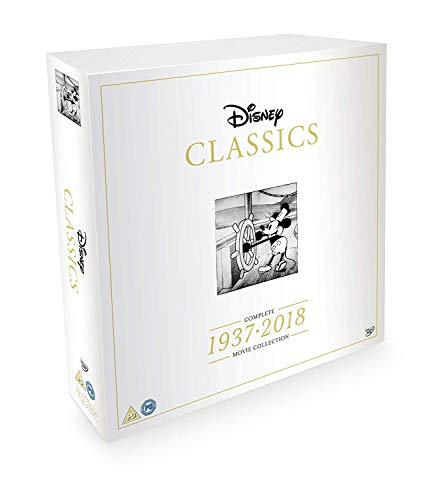 Disney Classics Complete 55 Disk Movie Box Set 1937-2018