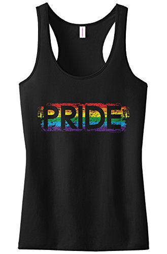 Threadrock Women's Pride Racerback Tank Top XL Black
