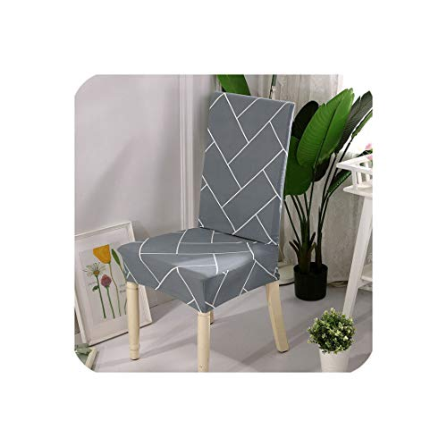 Plaid Kitchen Chair Cover Stretch Seat Covers Chair Dining Room Blue House de Chaise slipcover Chair Covers Spandex 1/2/4/6 pcs,Color 9,1 pc Chair Cover
