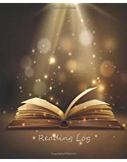 """Reading Log: Reading organizer journal notebook 7.5""""x9.25"""", keep track and review your favorite books and authors"""
