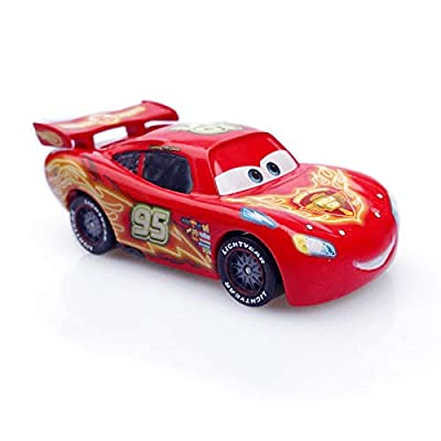 Pixar Cars Toys Colorful Lightning McQueen Series Diecast Toy Car 1:55 Loose Kids Toys Vehicle: Toys & Games