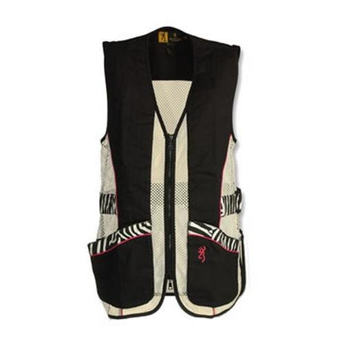 Browning Lady Sahara Vest, Black/Zebra, X-Large by Browning