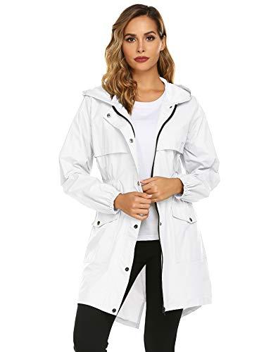 Avoogue Women's Lightweight Rain Jacket Waterproof