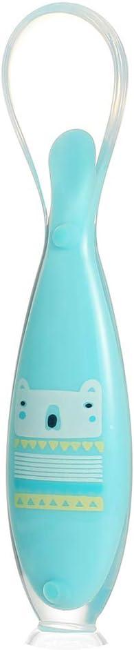 Kleinkinder Suppe Besteck Kindersicherheit 14cm x 3cm Rose BPA-frei Warooma Baby-L/öffel Essen weich Silikon