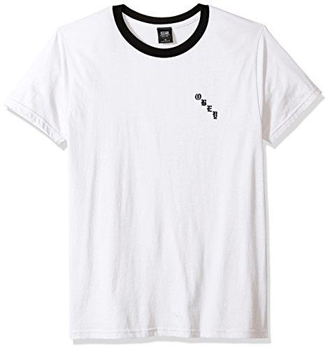 Obey Men's Airbrushed Rose Lightweight Short Sleeve T-Shirt, White/Black, M ()