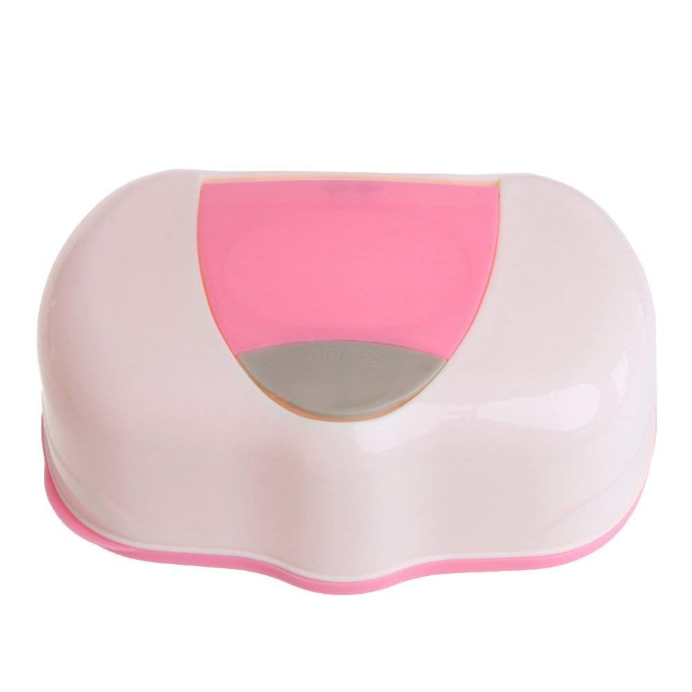 White, 9cm Height EUTUOPU Baby Wets Dispenser Tissue Box Wipe Box Case Tissue Box Travel Wipes Case Kids Box Changing Dispenser Home Use Storage Box White