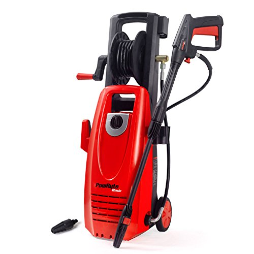 PowRyte Electric Pressure Washer, 2000PSI 1.8GPM Power Washer with Hose Reel, Extra Turbo Nozzle, Onboard Detergent Tank