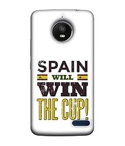 ColorKing Football Spain 04 White shell case cover for Motorola Moto E4
