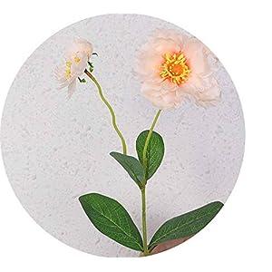 Li-Never 2 Heads Poppy Artificial Flower for Wedding Decoration Silk Flower Rosemary for Home Office Decor Fake Flower,Champagne 70