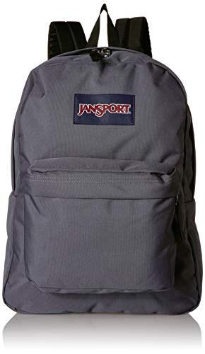 (JanSport Superbreak Backpack - Stylish School Bag | Deep Grey)